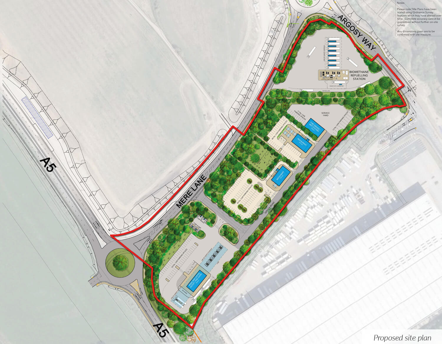 Proposed petrol station view